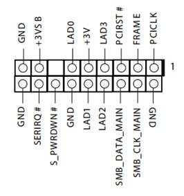 Asrock TPMS-header pinout